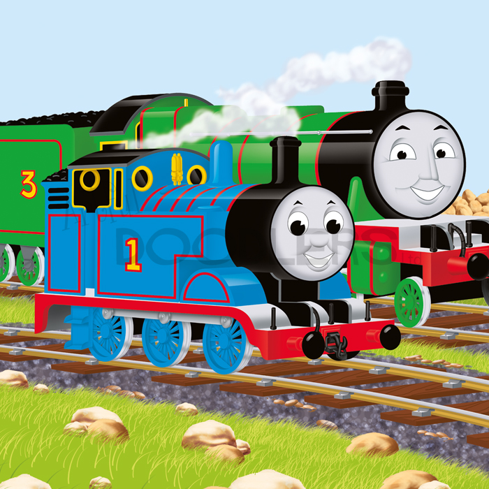 Thomas The Tank Engine Licensed Character   Artful Doodlers